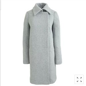 J. Crew Stadium Cloth Drop Waist Cocoon Coat